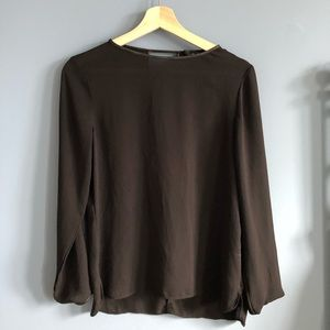 Zara Black Top with Keyhole Opening
